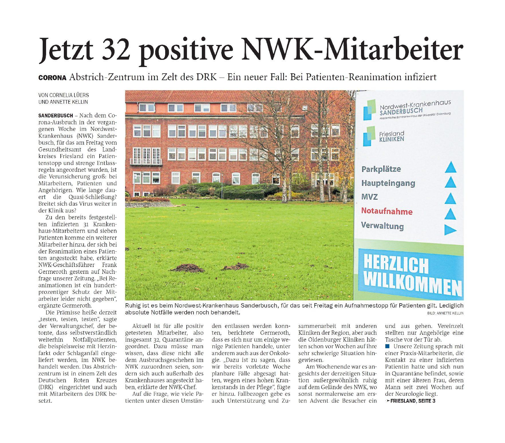 Jeversches Wochenblatt 30.11.2020