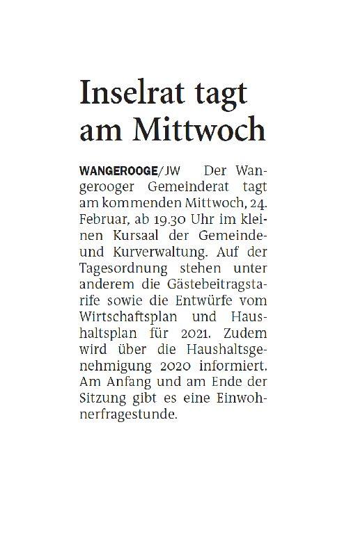 Jeversches Wochenblatt 19.02.2021 II