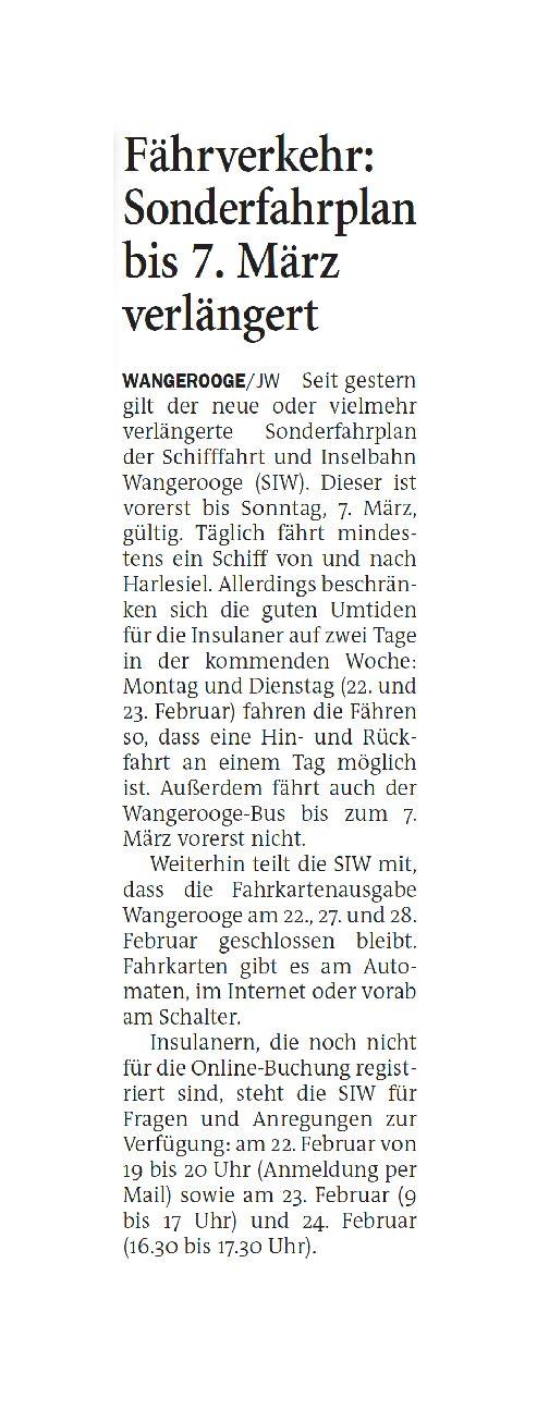Jeversches Wochenblatt 19.02.2021 III