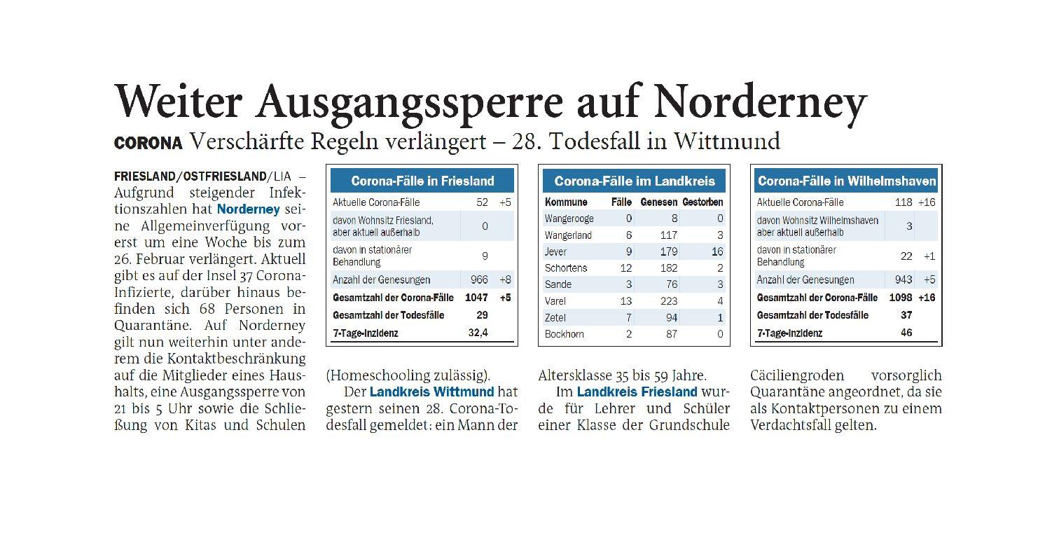 Jeversches Wochenblatt 19.02.2021