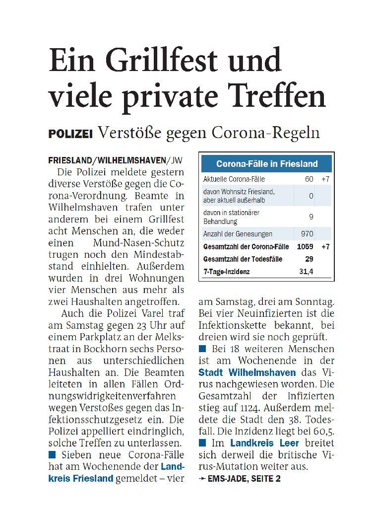 Jeversches Wochenblatt 22.02.2021