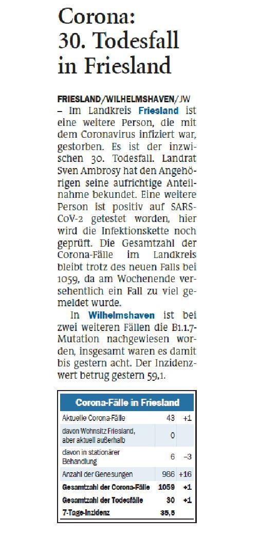 Jeversches Wochenblatt 23.02.2021