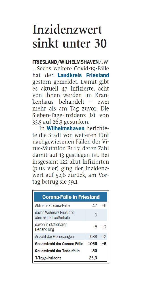 Jeversches Wochenblatt 24.02.2021