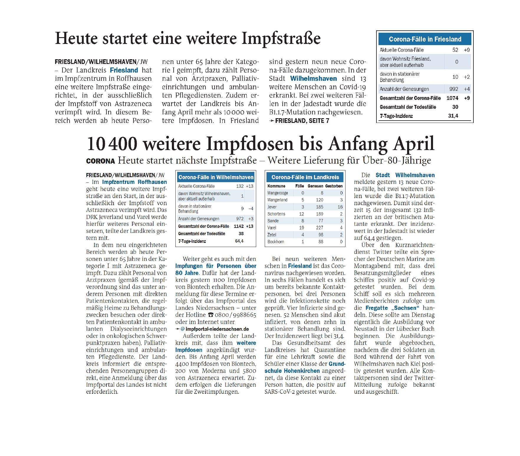 Jeversches Wochenblatt 25.02.2021
