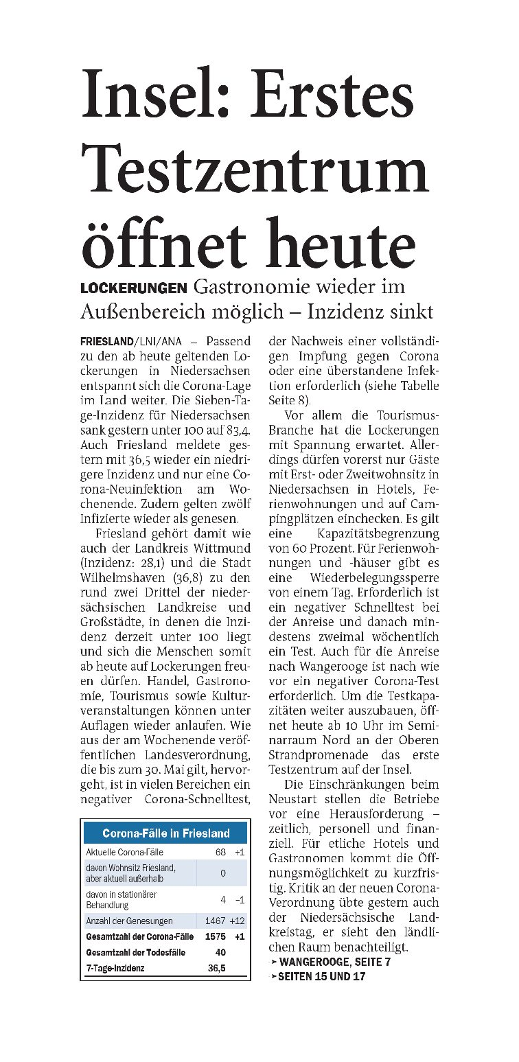 Jeversches Wochenblatt 10.05.2021