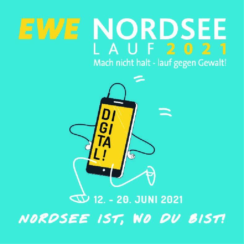 "11.05.2021 Erster digitaler EWE-Nordseelauf: ""Nordsee ist, wo du bist!"""