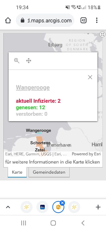 07.05.2021 Corona-Dashboard – Wangerooge hat 1 neuen Fall – 2 aktuell Infizierte