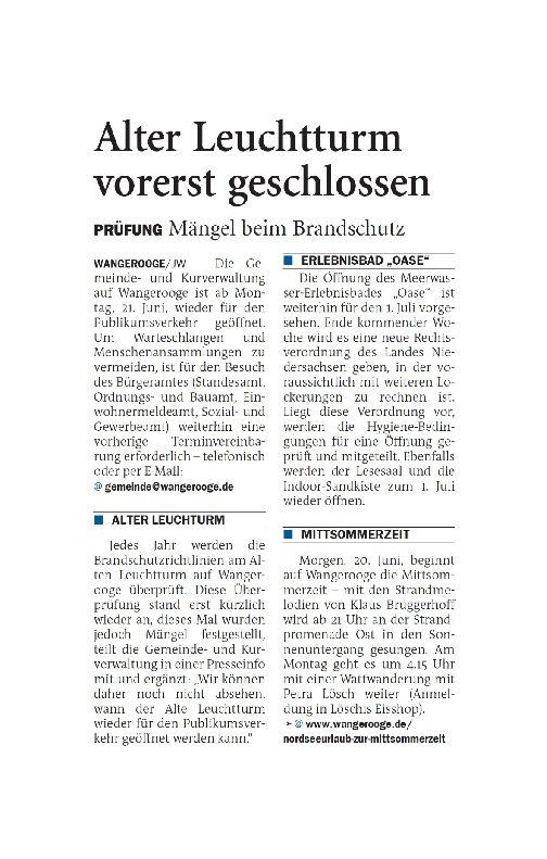 Jeversches Wochenblatt 19.06.2021 VI