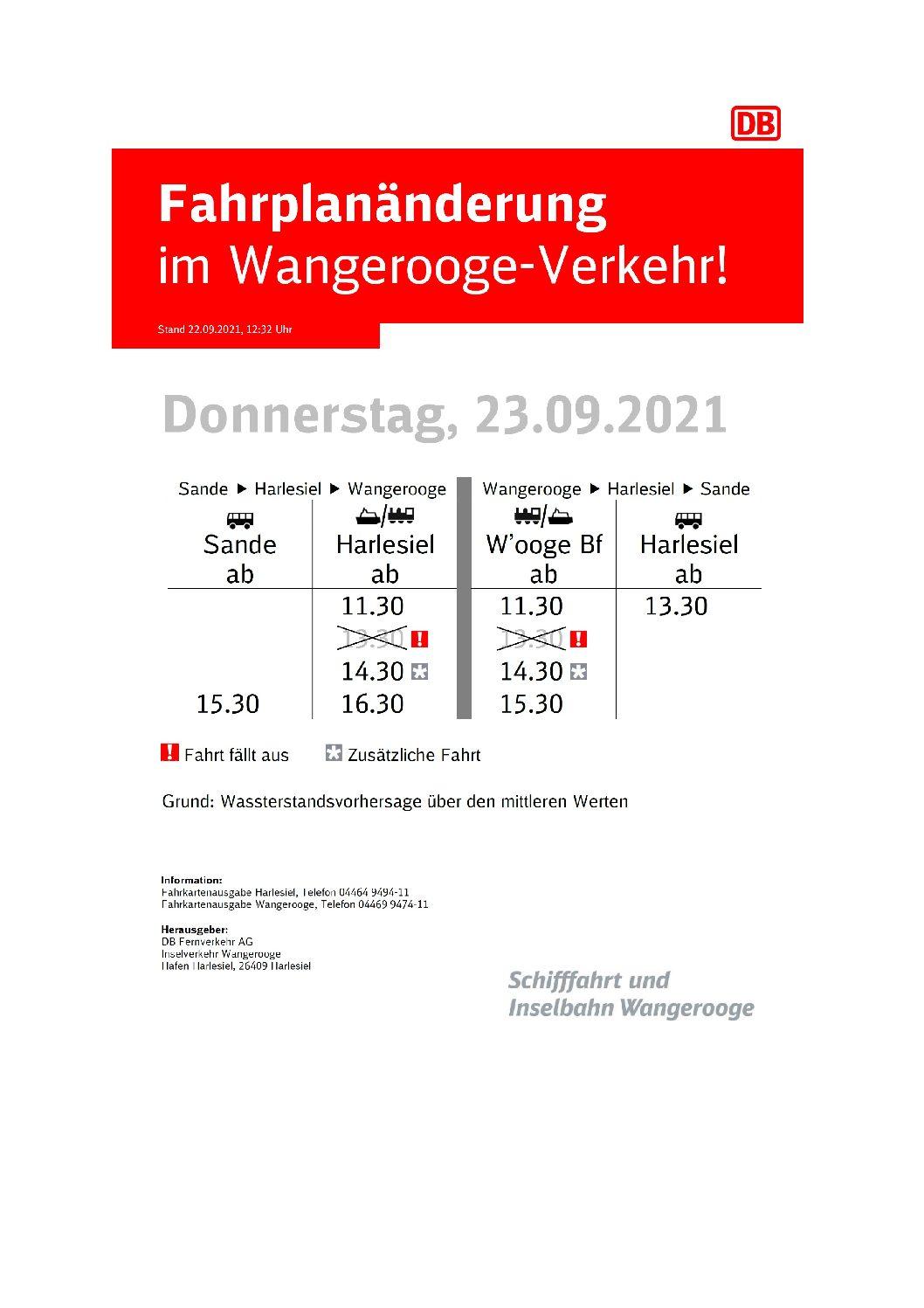 22.09.2021 DB/SIW Fahrplanänderung