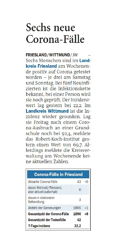 Jeversches Wochenblatt 18.10.2021